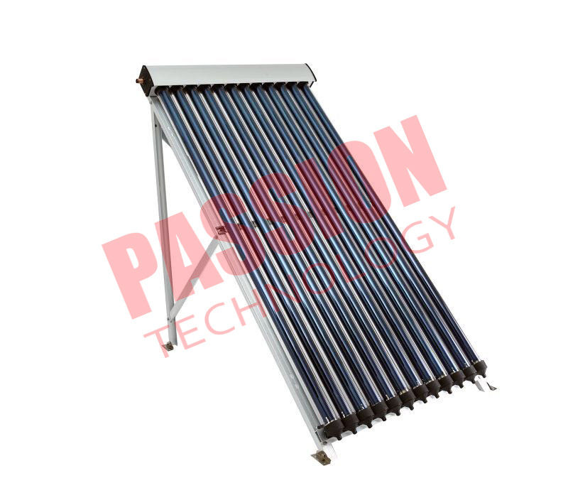 Silver Coating Heat Pipe Solar Collector 15 Tube Rockwool Polyurethane Insulation