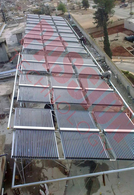 60 Tubes ETC Evacuated Tube Solar Collector , Painted Steel Vacuum Tube Solar Collector